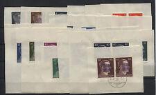 Lokal/Sächs. Schwärzung Wurzen 1-19 in waagerechten Paaren Briefstücke (B06195)