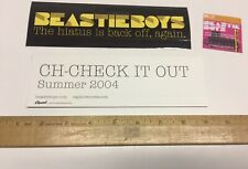 Beastie Boys Check It Out 2 Promo Stickers/2 Styles for cd Adam Yauch Mint!