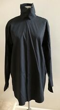 NWOT DRIES VAN NOTEN Oversized Cotton Shirt Blouse, Size 42/US 8, Black