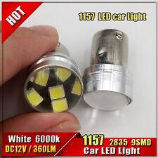 1X Bright 1157 BAY15D 380 Dual Color Switchback 9 SMD 2835 LED Tail Brake Bulbs