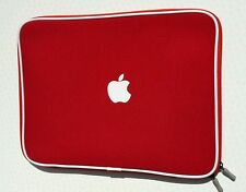 "Soft Sleeve Carry Bag Case Cover - Apple 15"" Inch Macbook Pro or Air - Red"