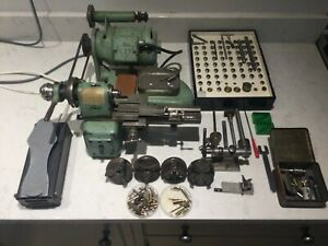 BOLEY LEINEN ELECTRIC WATCH MAKERS LATHE LOTS OF PARTS COLLETS CHUCKS TOOLS