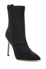 Jewel Badgley Mischka Women's Black Angela Pointed Toe Ankle Boot Sz 9.5 2617*