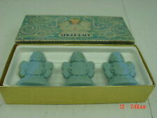 Vintage Boxed Set of Fragranced Soaps by Avon Blue Angel Shape Cakes Lace Wings