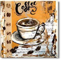 "Wandbild Gemälde Abstrakt  Acrylmalerei ""Kaffeetasse"" Unikat Nr.1018"