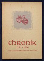 Betriebs-Chronik Veb Baumwollspinnerei Zschopautal 1956 Geschichte Saxonica sf