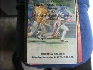 11/6/76 TARLETON STATE VS SUL ROSS STATE NCAA FOOTBALL PROGRAM EX/MT