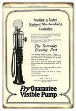 Aged Looking Fry Guarantee Visible Pump Gas Station Sign 12X18