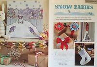 CROSS STITCH CHART Penguins in Snow Picture Tree Door Hanger Stocking PATTERN