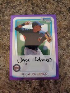 Jorge Polanco 2011 Bowman Chrome Purple Refractor /799 Twins !!!!!