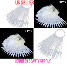 50 PCS STILETTO NAIL SWATCH STICK NAIL COLOR DISPLAY TIP TRANSPARENT OR NATURAL