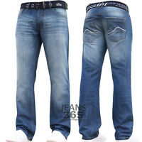 New Mens Branded Designer Regular Fit Straight Leg Denim Jeans Pants Waist Size