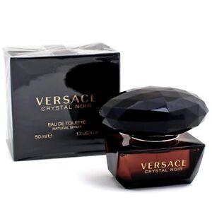 Crystal Noir By Versace Eau De Parfum Spray For Women 1.7oz New Sealed Authentic