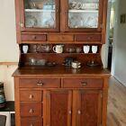 Antique 1930s Amish Handmade  china cabinet / Hutch.  Beautiful piece.  Pine