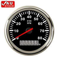 Marine Tachometer LCD Hourmeter Boat Car Truck RPM Tacho Meter Gauge 8000RPM AU