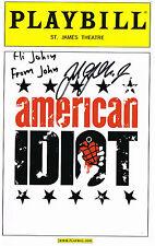 John Gallagher Jr. SIGNED Playbill Spring Awakening American Idiot COA