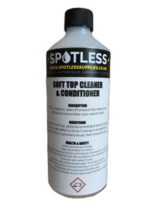 500ml Soft Top Cleaner And Conditioner Convertible Cleaner Roof Cleaner Spotless