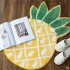 "Non Slip Bath Mat Cute Pineapple Shape Fruit Pattern Rug Kids Room Carpet 19x33"""