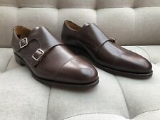 Meermin Mallorca Brown Double Monk Goodyear Welted All Leather Shoes UK Size 10E