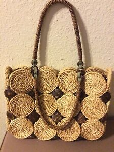 Tommy Bahama Straw Large Purse/Tote