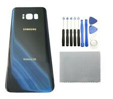 Samsung Galaxy S8 G950 Blue Glass Back Cover Housing Battery Door +12T