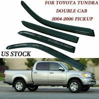 For 2004-06 Toyota Tundra Crew Cab Pickup Window Visor Vent Rain Guard Sun Shade
