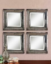 """Boutique 18"""" Square Mirrored Wall Art Set of 2"""
