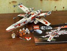 Star Wars Lego Conjunto 6212 X Ala Fighter minifiguras y las instrucciones completas
