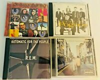 Rock CD Lot Of 4 Essential Elvis Costello, Pogues, Oasis, REM