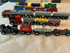 Wooden train cars~Melissa & Doug*Pottery Barn Kids*LOT of 19 cars