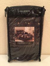 J. Queen New York Ravello Black European Euro Pillow Sham Brown Gold