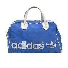 VINTAGE Adidas Tasche Bag Blau Blue Gym Reisen Retro '80s 41920 Trefoil Sport
