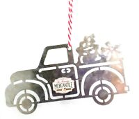 Farm Pickup Truck METAL ORNAMENT Christmas St Nicholas Mercantile Sign SALE