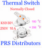 KSD301 10A 250V 180°C 356°F Thermostat Temperature Switch Thermal control Switch