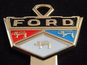 FORD WIDE Gold CREST KEY BLANK NOS 1952-1965 Skyliner Victoria Fairlane Vintage