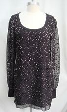 NEW JONATHAN SAUNDERS $1.2k black and ivory burnout pattern dress size 40