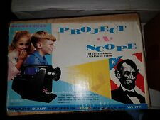 BRUMBERGER PROJECT-O-SCOPE IMAGE PORTABLE PROJECTOR ORGINAL BOX W/ABE LINCOLN