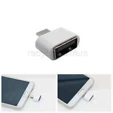 1 Universal Micro USB Host OTG connector Adapter Samsung Galaxy phone Note White
