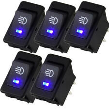 5X 12V 35A Car Auto Fog Light Rocker Toggle Switch Blue LED Dashboard Sale
