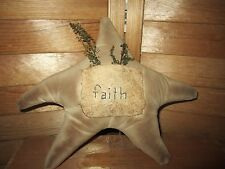 Primitive faith star, cupboard tuck, tree topper