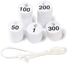 Reusable Plastic Coat Room Check Tags Double Sided Numbered 1 300 600 Pack