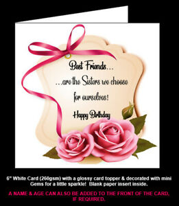 'Best Friends are the Sisters We Choose for Ourselves' Birthday / Christmas Card