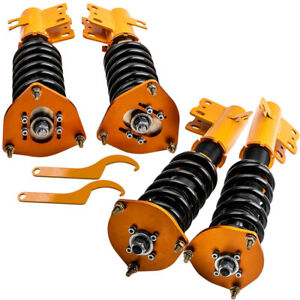 New Coilovers Kit for Subaru Forester 1998-2002 Adj. Height Coil Springs & Strut