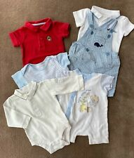 Set of 6 Baby Boy one-pieces fit 3-6 months