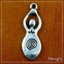 Ancient Goddess charm ~1pc~ fertility amulet woman venus Tibetan silver pendant