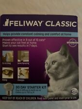 Feliway Classic 30 Day Starter for Cats Plug In Diffuser & Refill 48 ml