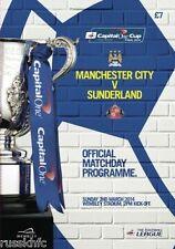 2014 CAPITAL ONE CUP FINAL MAN CITY V SUNDERLAND OFFICIAL PROGRAMME