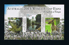 Tonga Stamp Souvenir Sheet for the Australia World Stamp Expo