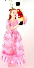Nutcracker Ballet Clara 7.75 inches Satin Pink Gown Christmas Ornament  NEW