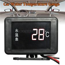 12V/24V Car Digital LED Water Temperature Temp Meter Gauge 17mm Universal Sensor